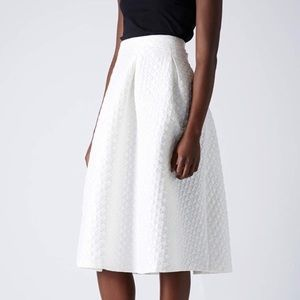Topshop Diamond Jacquard Midi Skirt