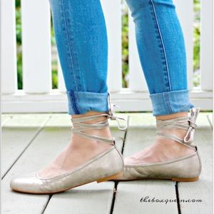 BC Footwear Lace-Up Ballerina Flat from Stitch Fix
