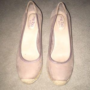 Suede wedge heels- gently worn!