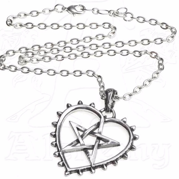 Heart pentacle necklace alchemy witch pendant poshmark heart pentacle necklace alchemy witch pendant aloadofball Image collections