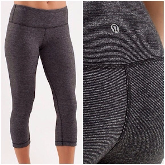 86f78bc5c64ed lululemon athletica Pants - Lululemon • Wee Striped Wunder Under Crop  Leggings