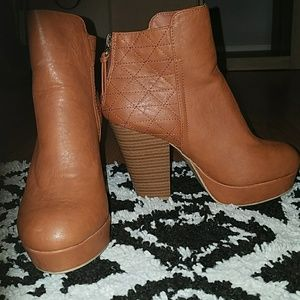 Camel colored booties