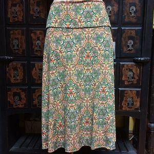 Lularoe kaleidoscope Azure circle skirt