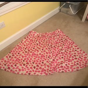 The Limited Pink and Cream Skirt