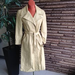 Vintage Women leather Trench Coat