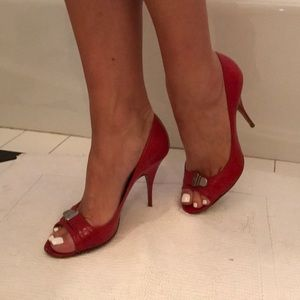 Givenchy red open toe heel size 38 1/2