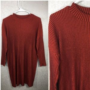 ASOS Red Ribbed Sweater Dress