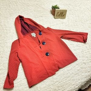 Elbow Patches & Polka Dots 3/4 Sleeve Hoodie