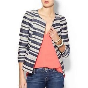 Pim & Larkin • Blue/Cream Striped Blazer