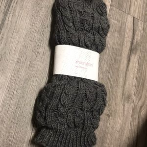 NWT Grey Leg Warmers