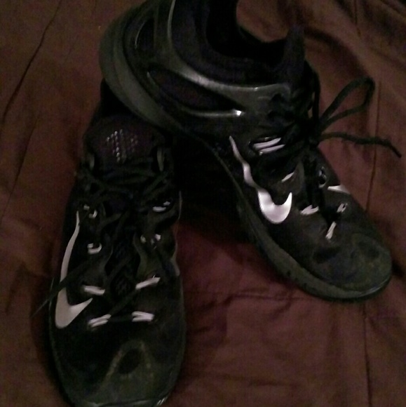 Men's Nike Wooz Black with Silver Swoosh 10.5