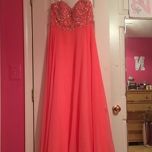 Neon pink gown