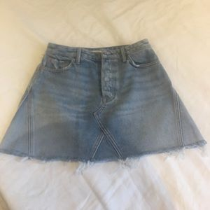 GRLFRND Revolve denim skirt 26 NWT