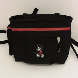 Disney Mickey Mouse Black Canvas Backpack