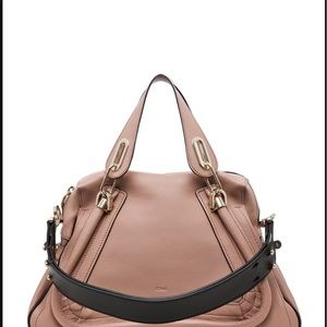 Chloe Paraty Military Leather Shoulder Satchel Bag