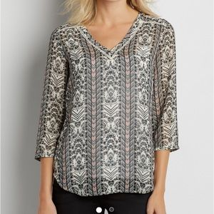 Maurices Perfect Flowy Blouse Floral Print