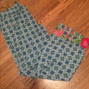 Other - Floral embroidered pj pants