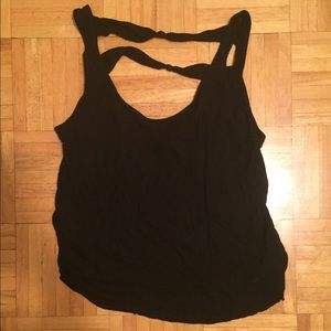 [Urban Outfitters] Black Strappy Back Top!