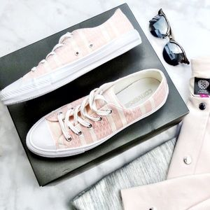 Converse Millennial Pink & White Striped Sneakers