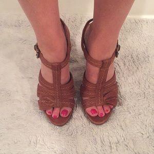 Miu Miu 5 inch Brown Leather Heels