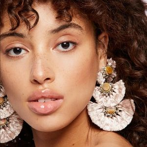 NWT Free People Fringe Fan Statement Earrings