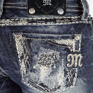 Miss Me Signature Straight Denim.