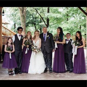 Watters Dresses 45111 Flower Girl Dress Plum Purple Poshmark,Beach Wedding White Dress For Guest