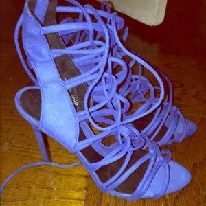 Zara blue strappy sandals NEW sz 39/us 8