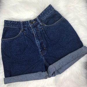 Vintage Brittania high waisted jean shorts