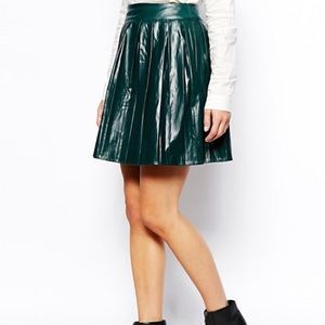ASOS Petite Faux Leather Skirt