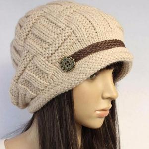 Accessories - Beige Knitted Hat