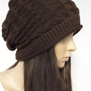 Accessories - Brown Knitted Light Hat