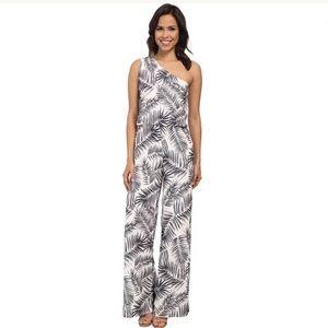 🌹Sam Edelman One-Shoulder Palm Print Jumpsuit 🌹