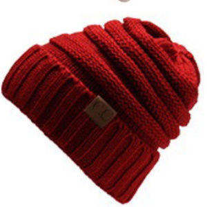 Accessories - Burgandy Knitted Hat