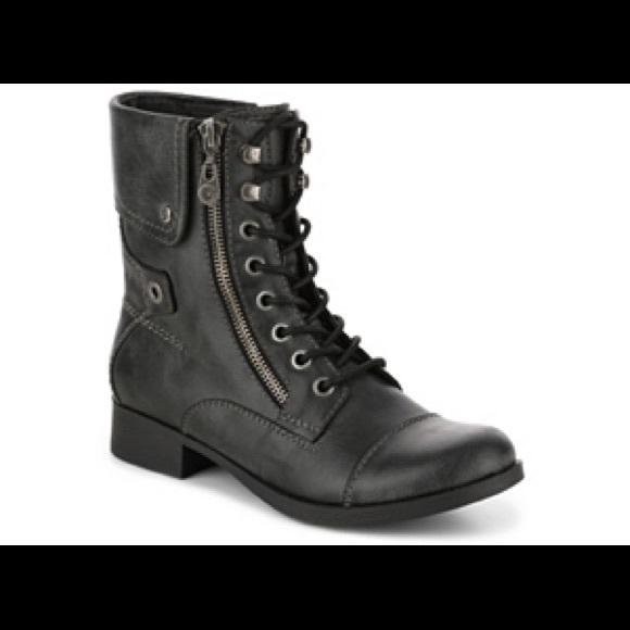 black guess combat boots