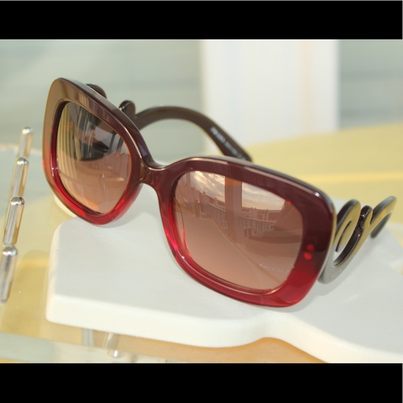 927746e797a ... coupon code for prada ombré maroon red baroque sunglasses limited 93927  585f4