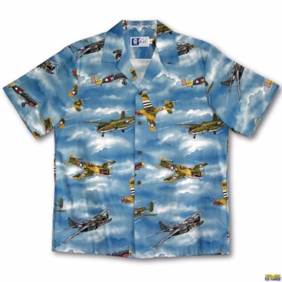 d03ec1d6 RJC World War 2 WWII Plane Hawaiian Shirt. M_59b76da37fab3af83b0c3bed