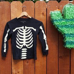 Chasing Fireflies Halloween Skeleton LS Shirt sz 6