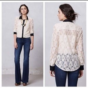 Anthropologie Vanessa Virginia Gemma Lace Top.