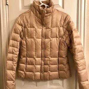 Gold Puffer Coat from Express, Size Medium