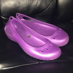 Purple Mary Jane Crocs