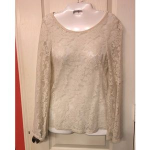 Lace fitted blouse