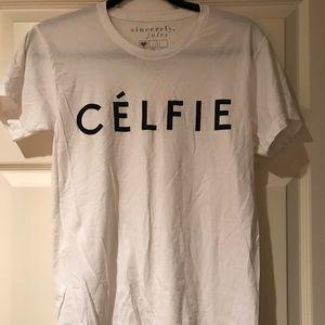Sincerely Jules Celfie tee, never worn!