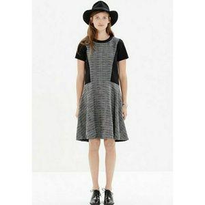 Madewell b&w textured tribune dress
