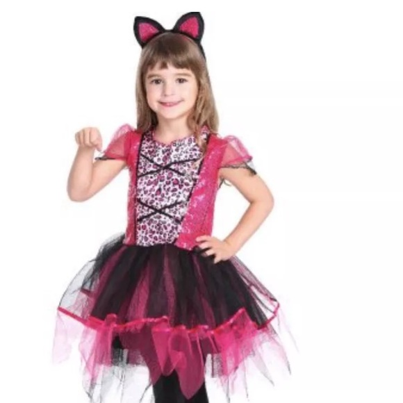 Pink Sassy Cat Girls Halloween Costume Medium 8-10  sc 1 st  Poshmark & Costumes | Pink Sassy Cat Girls Halloween Costume Medium 810 | Poshmark
