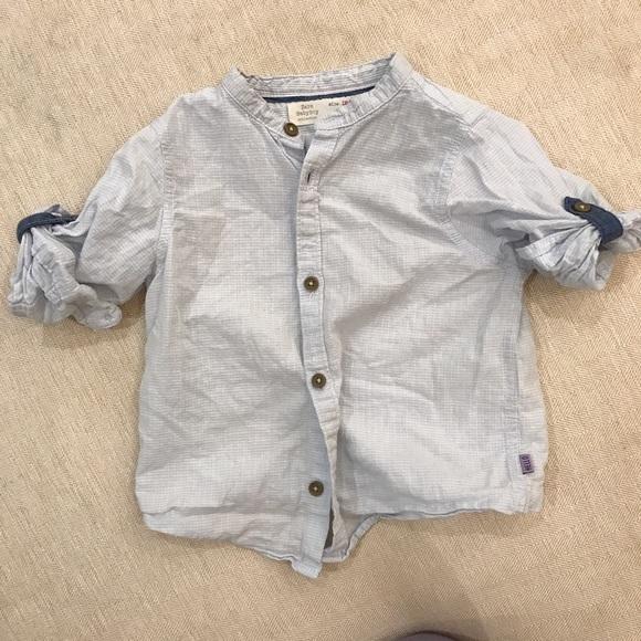 dc78b9cb Zara Shirts & Tops | Collarless Baby Boy Shirt 24 Mo | Poshmark
