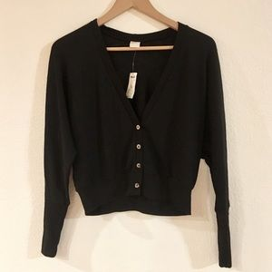 Pacsun Kirra Black Button Up Cardigan Top size XS