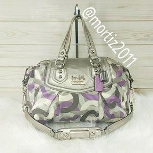 Handbags - Coach Chain Link Op Art Satchel.