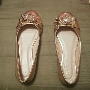Rose Gold flats - used twice