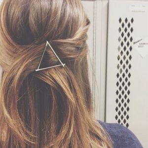 Silver/gold triangle hair clip
